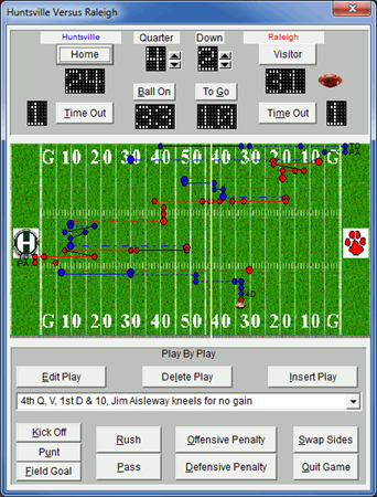 Football Statsbook Main Screen